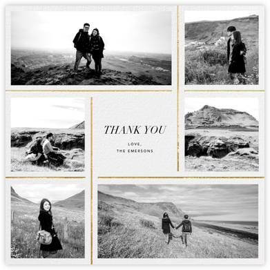 Whitework - Gold - Paperless Post - Wedding thank you notes
