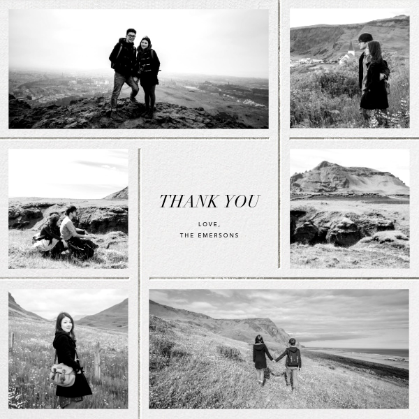 Whitework - Silver - Paperless Post - Wedding thank you notes
