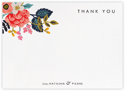 Birch Monarch Suite (Stationery) - Rifle Paper Co. - Wedding thank you cards