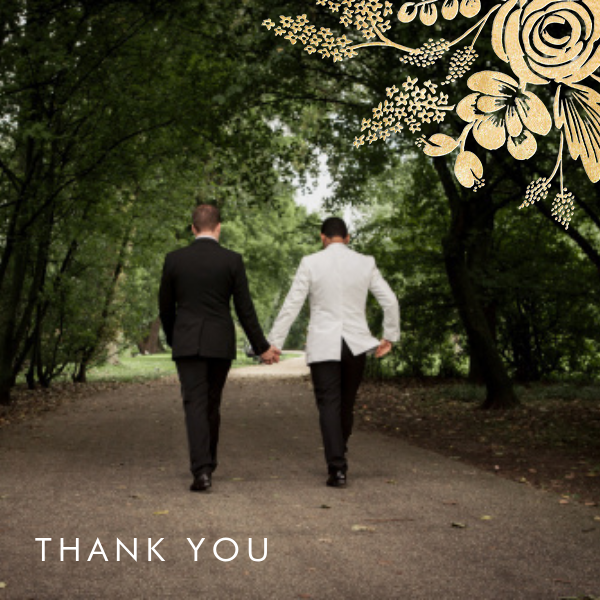 Heather and Lace (Photo) - Gold - Rifle Paper Co. - Wedding thank you notes