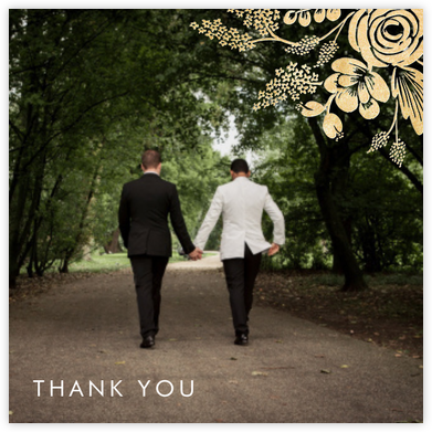Heather and Lace (Photo) - Gold - Rifle Paper Co. - Wedding thank you cards
