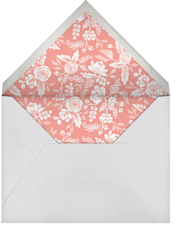 Heather and Lace (Photo) - Gold - Rifle Paper Co. - Wedding - envelope back