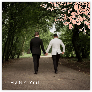 Heather and Lace (Photo) - Rose Gold - Rifle Paper Co. - Wedding thank you notes