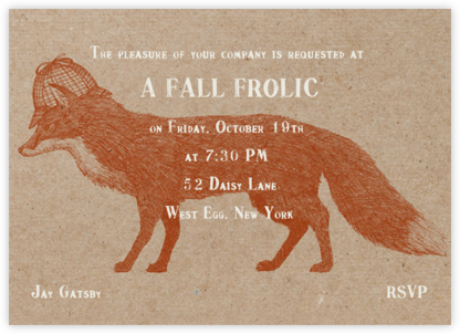 Fox and Hat - Chipboard - Paperless Post