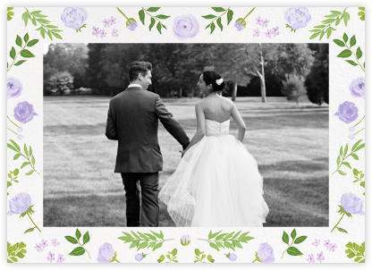Fleurs d'Été (Photo Stationery) - Lavender - Paperless Post - Wedding thank you notes