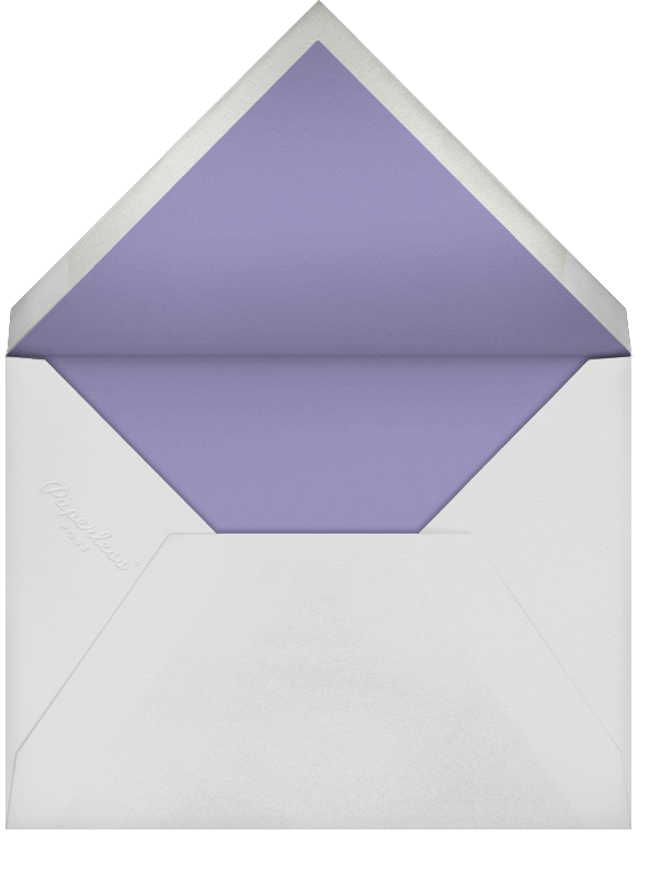 Fleurs d'Été (Photo Stationery) - Lavender - Paperless Post - Wedding - envelope back