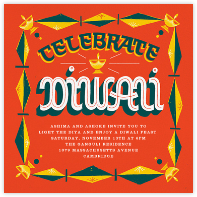Diwali Lights (Invitation) - Paperless Post - Diwali invitations
