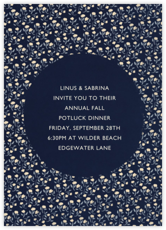 Floral Circle - Navy and Pacific - Paperless Post -