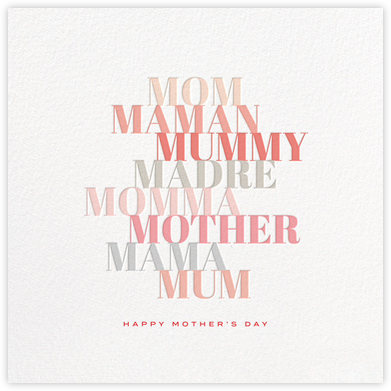 Colorful Mother's Day - bluepoolroad - bluepoolroad invitations and cards