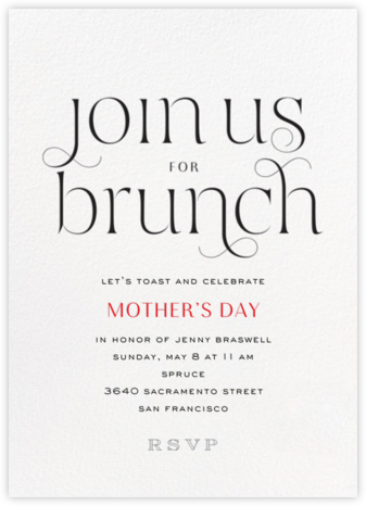 Flirty Brunch - bluepoolroad - bluepoolroad invitations and cards