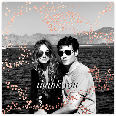 Evoke (Square Photo) - Rose Gold - Kelly Wearstler - Wedding thank you notes
