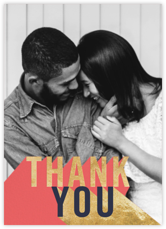 Featured Thanks (Photo) - Coral - Paperless Post - Online Thank You Cards