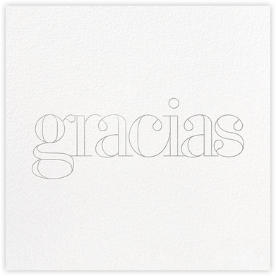 Grace and Gratitude (Gracias) - Silver - Paperless Post - Online Thank You Cards
