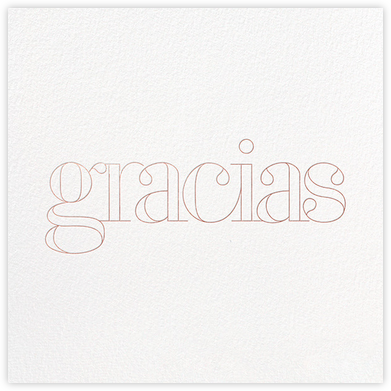Grace and Gratitude (Gracias) - Rose Gold - Paperless Post - Thank You Cards
