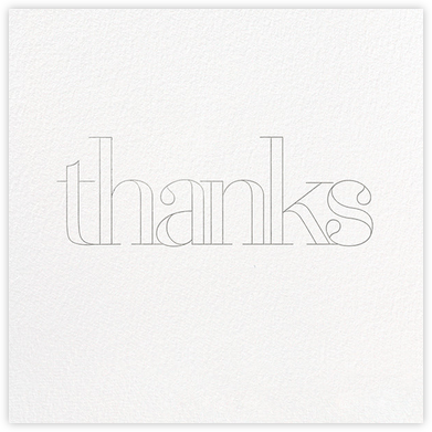 Grace and Gratitude (Thanks) - Silver - Paperless Post - Online Thank You Cards