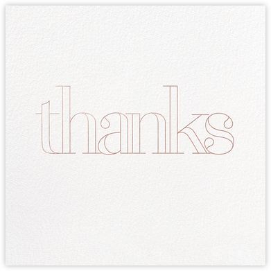 Grace and Gratitude (Thanks) - Rose Gold - Paperless Post - Online Thank You Cards