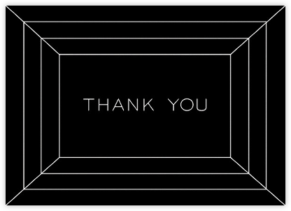 Deco Gratitude - Black/White - Paperless Post - Graduation Thank You Cards