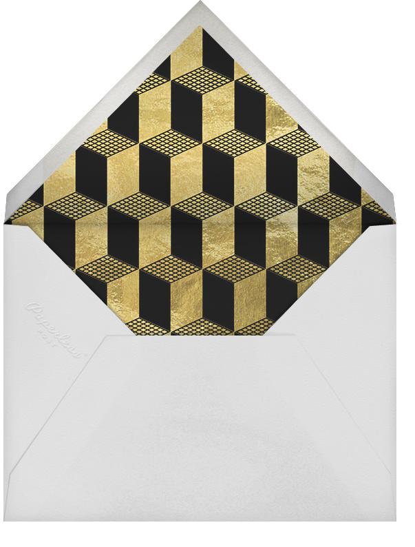 Deco Gratitude - Black/Gold - Paperless Post - Thank you - envelope back