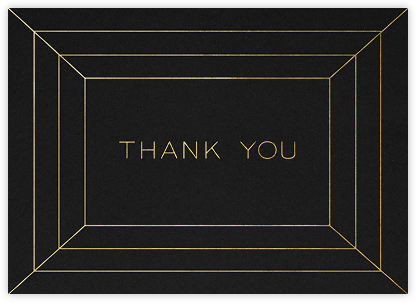 Deco Gratitude - Black/Gold - Paperless Post - Online Thank You Cards