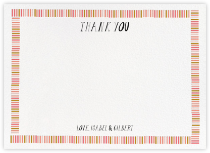 Miss Gigi (Stationery) - Pink - Mr. Boddington's Studio - Wedding thank you notes
