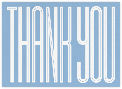 Massive Thanks - Spring Rain - Paperless Post - Online Thank You Cards