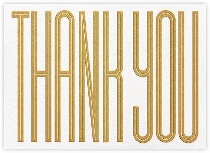 Massive Thanks - Gold - Paperless Post - Online Thank You Cards