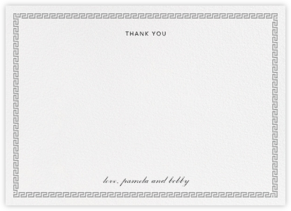 Meander (Stationery) - Jonathan Adler - Wedding thank you cards
