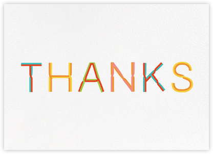 Thanks with a Twist - White - Paperless Post - Online Thank You Cards