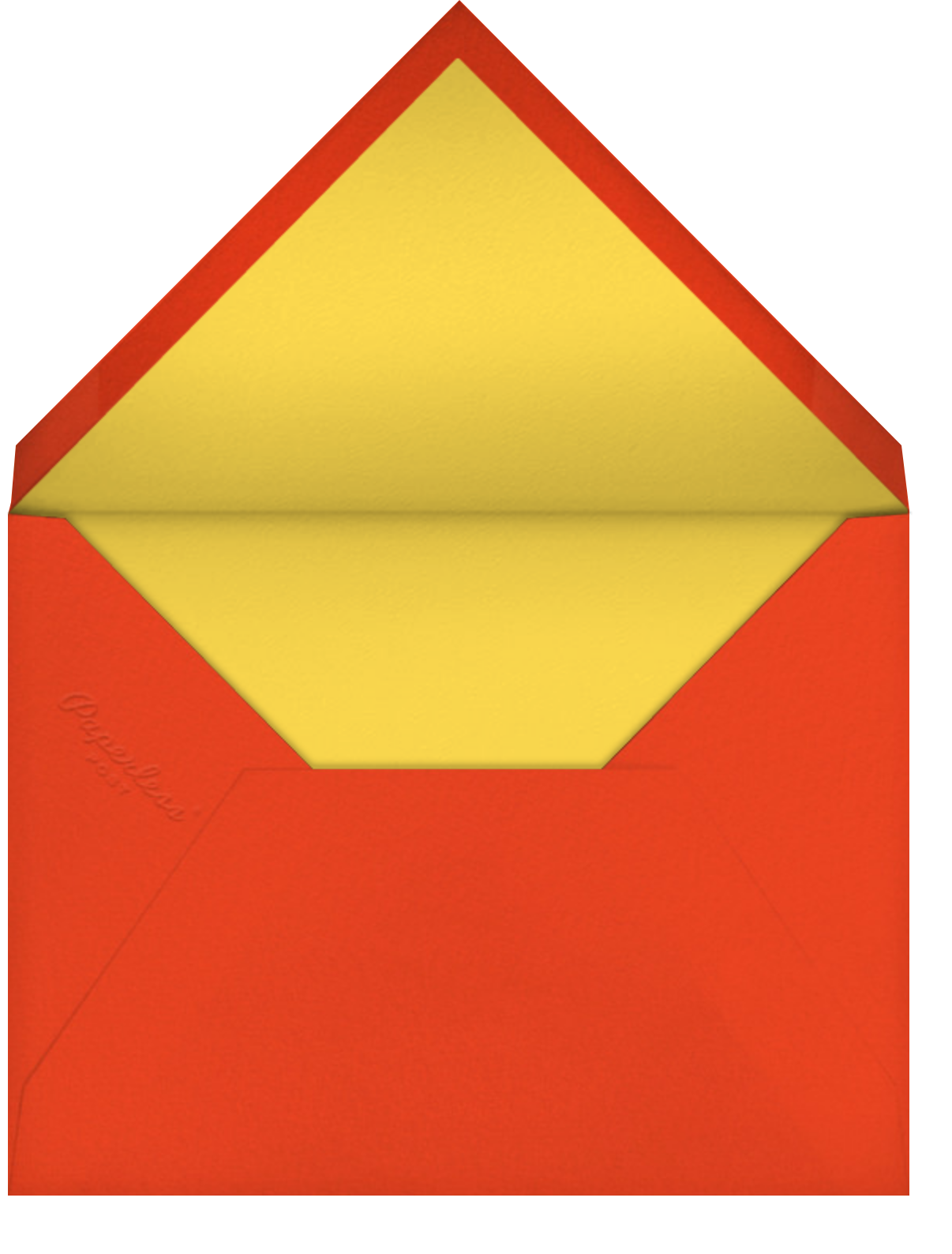 Thanks with a Twist - White - Paperless Post - Envelope