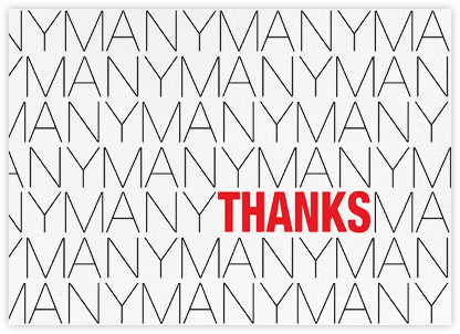 Many Many Many Thanks - Paperless Post - Online Thank You Cards