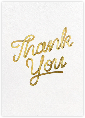 Signature Thanks - Paperless Post - Online Thank You Cards
