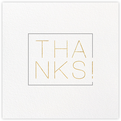 Thanks in a Box - Gold - Paperless Post - Online Thank You Cards