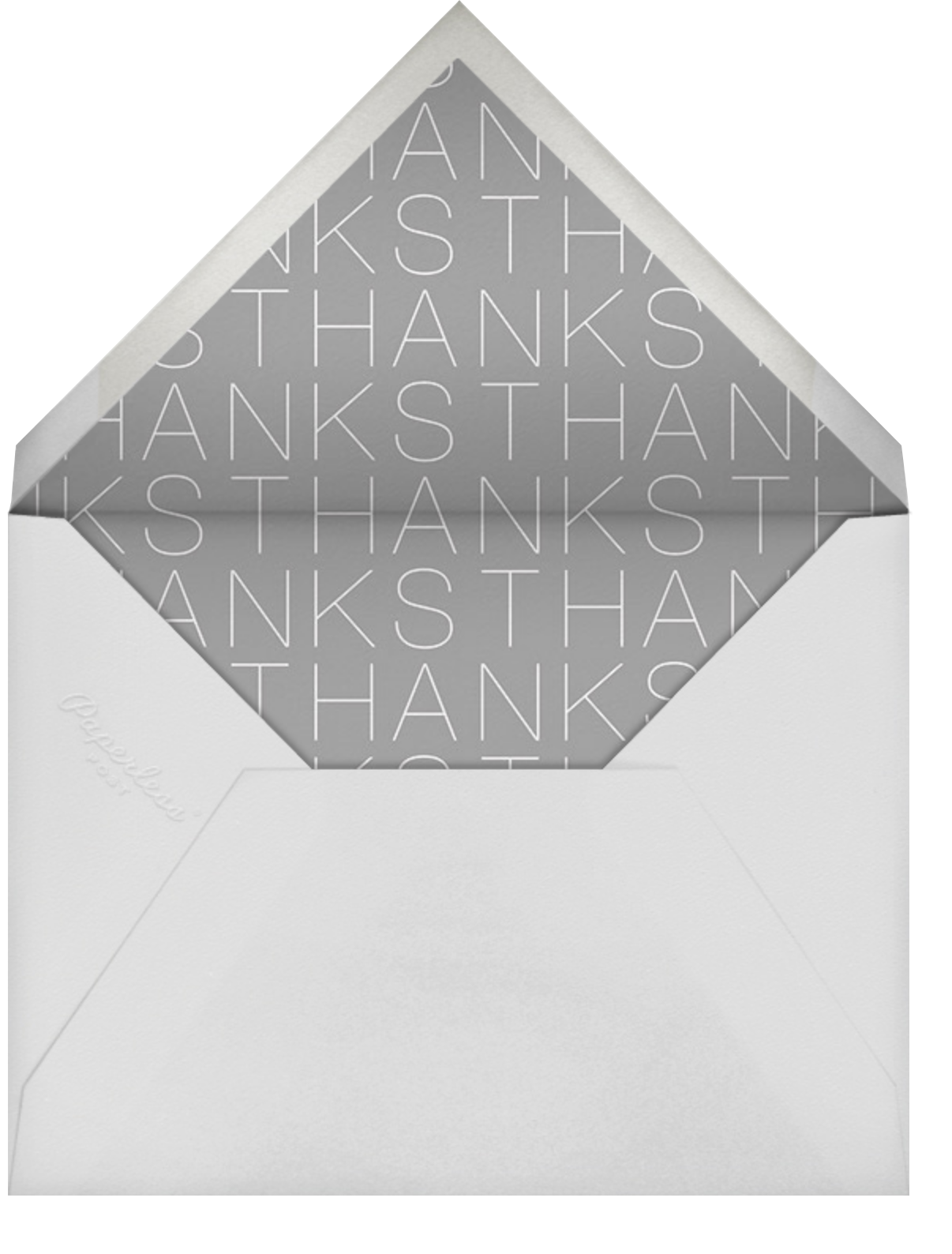 Thanks in a Box - Gold - Paperless Post - Thank you - envelope back