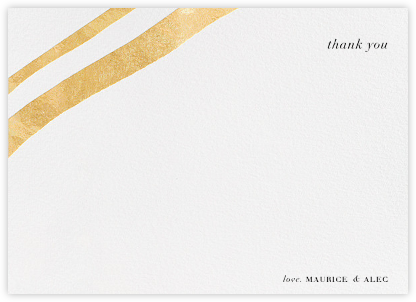 Cherish (Stationery) - Gold - Kelly Wearstler - Wedding thank you notes
