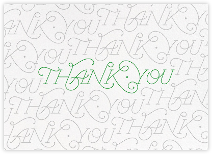 A Thousand Thanks - Paperless Post - Graduation Thank You Cards
