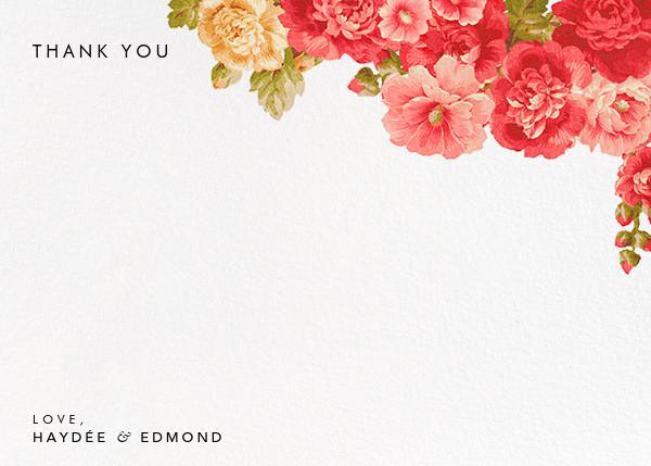 Garden Floral Ikat (Stationery) - Oscar de la Renta - Wedding thank you notes