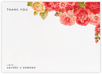 Garden Floral Ikat (Stationery) - Oscar de la Renta - Wedding thank you cards