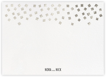 Fette (Stationery) - White/Silver - Kelly Wearstler - Personalized Stationery