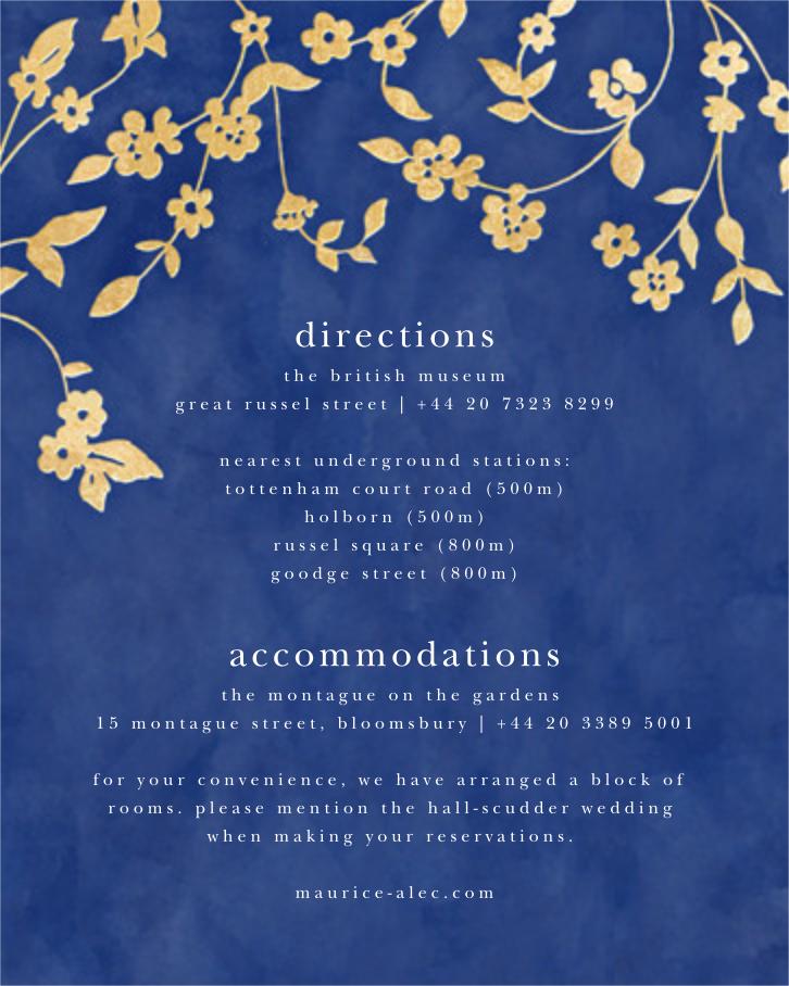 Floral Trellis II - Blue/Gold - Oscar de la Renta - All - insert front