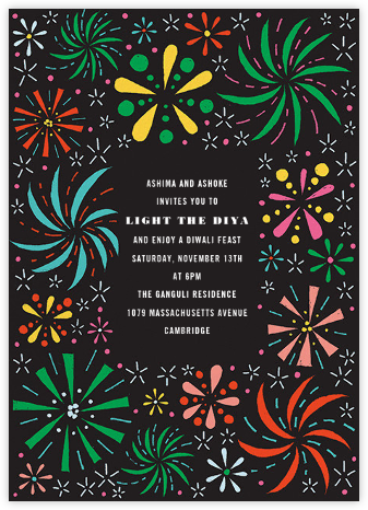 Firework Bouquet - Multi - Paperless Post - Diwali invitations