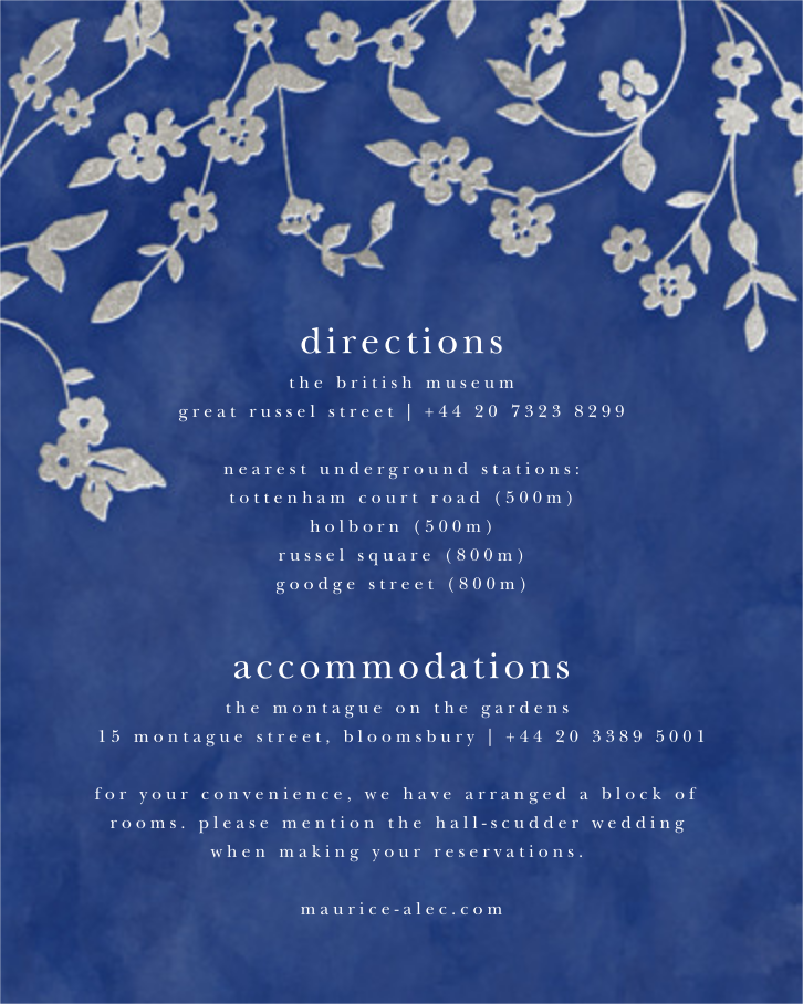 Floral Trellis II - Blue/Silver - Oscar de la Renta - All - insert front