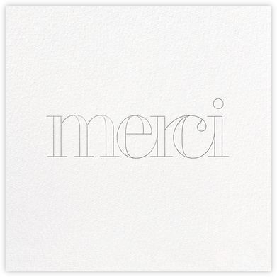 Grace and Gratitude (Merci) - Silver - Paperless Post