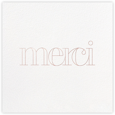 Grace and Gratitude (Merci) - Rose Gold - Paperless Post - Thank you cards