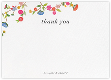 Stitched Floral II - Thank You