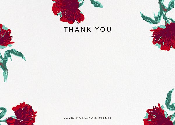 Pop Carnation (Stationery) - Oscar de la Renta - Wedding thank you notes