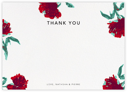 Pop Carnation (Stationery) - Oscar de la Renta - Wedding thank you cards