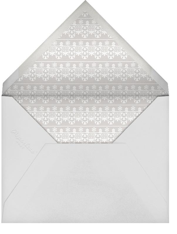 Van Alen Scallop II (Stationery) - Oscar de la Renta - Wedding - envelope back