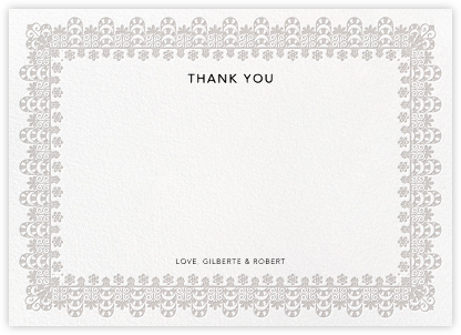 Van Alen Scallop II (Stationery) - Oscar de la Renta - Wedding thank you cards