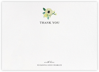 A Floral Wedding (Stationery) - Paper + Cup - Wedding thank you notes