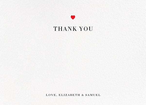 Heart Dot (Stationery) - Paper + Cup - Wedding thank you notes